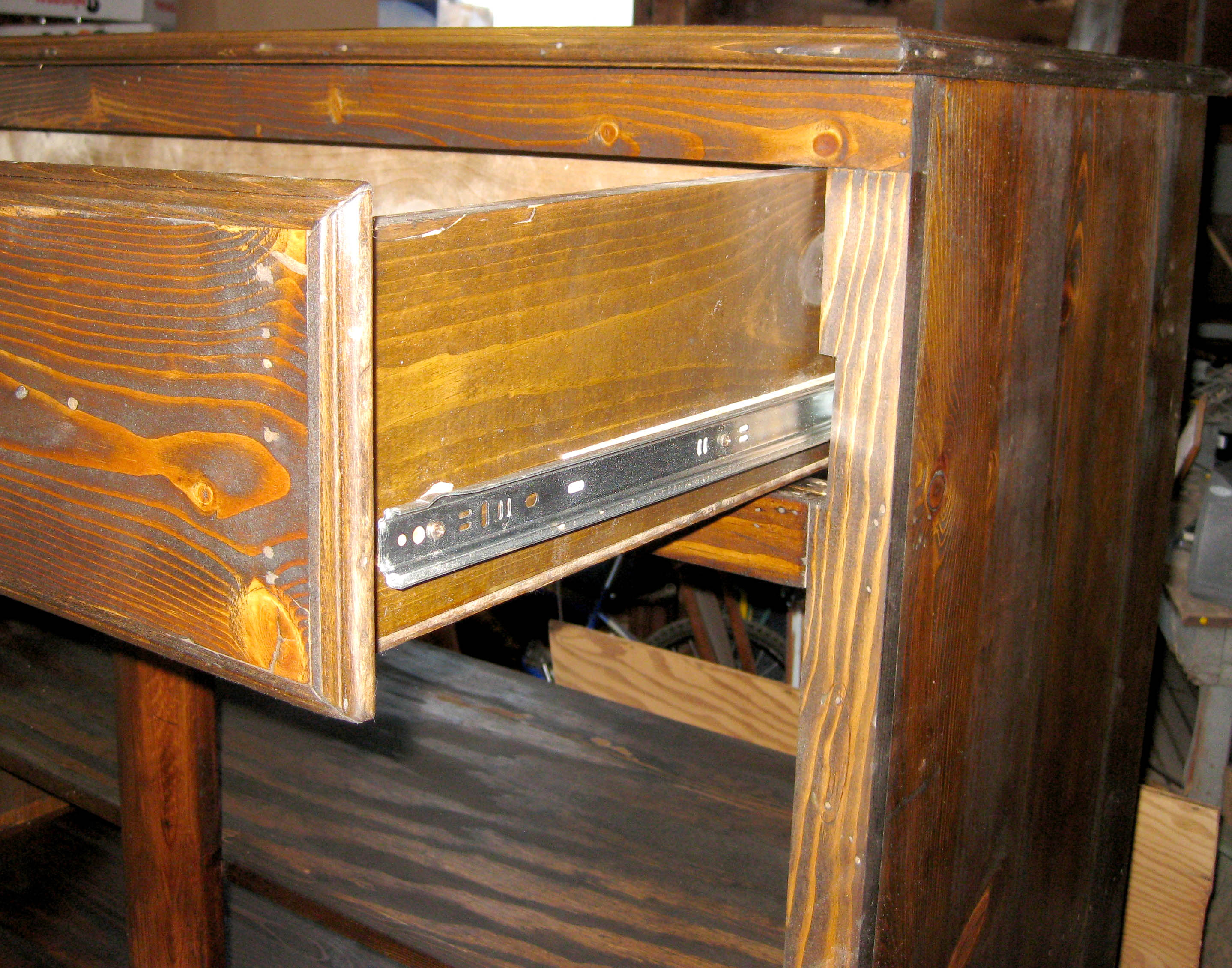 Drawer Slide. Full resolution  photograph, nominally Width 2876 Height 2260 pixels, photograph with #C1830A.