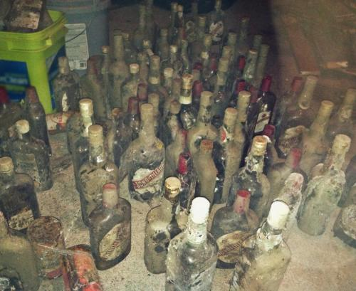 140423 Bottles from Crawl Space