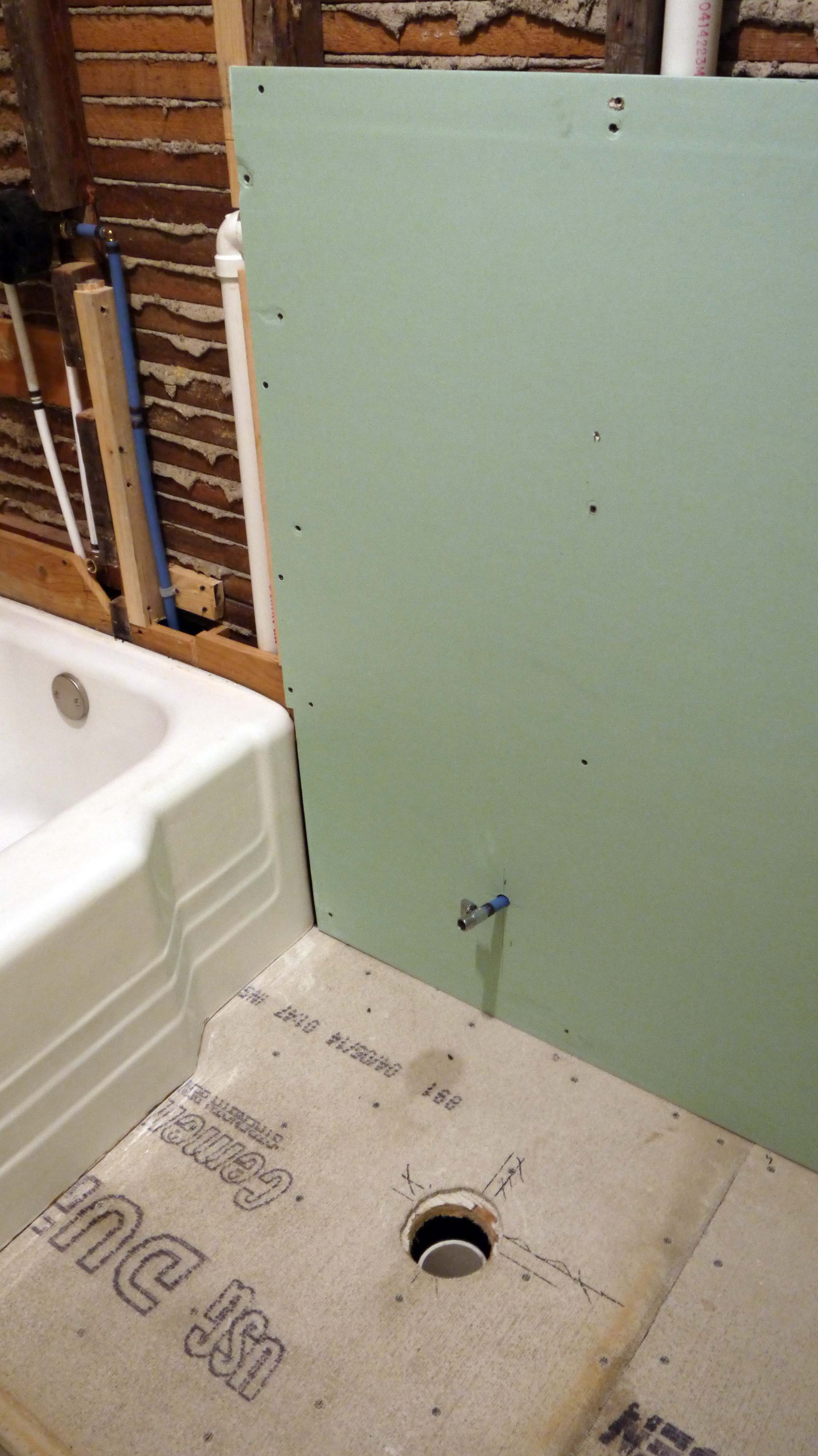 Bathroom Up And Adam Ries Page - Green board in bathroom