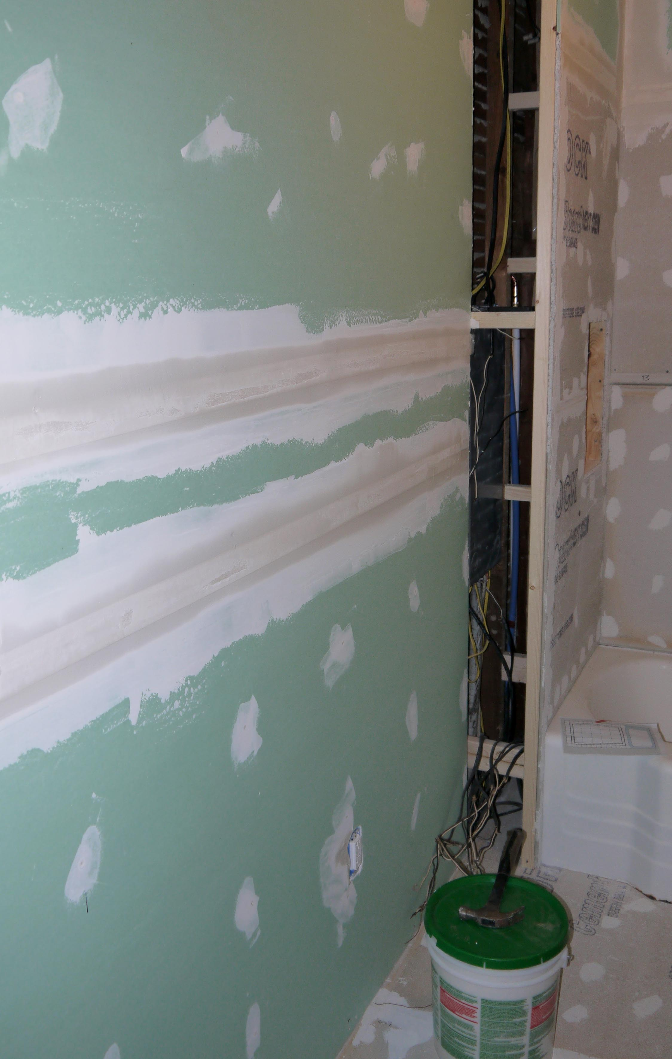Drywall up and adam ries for Bathroom joint compound