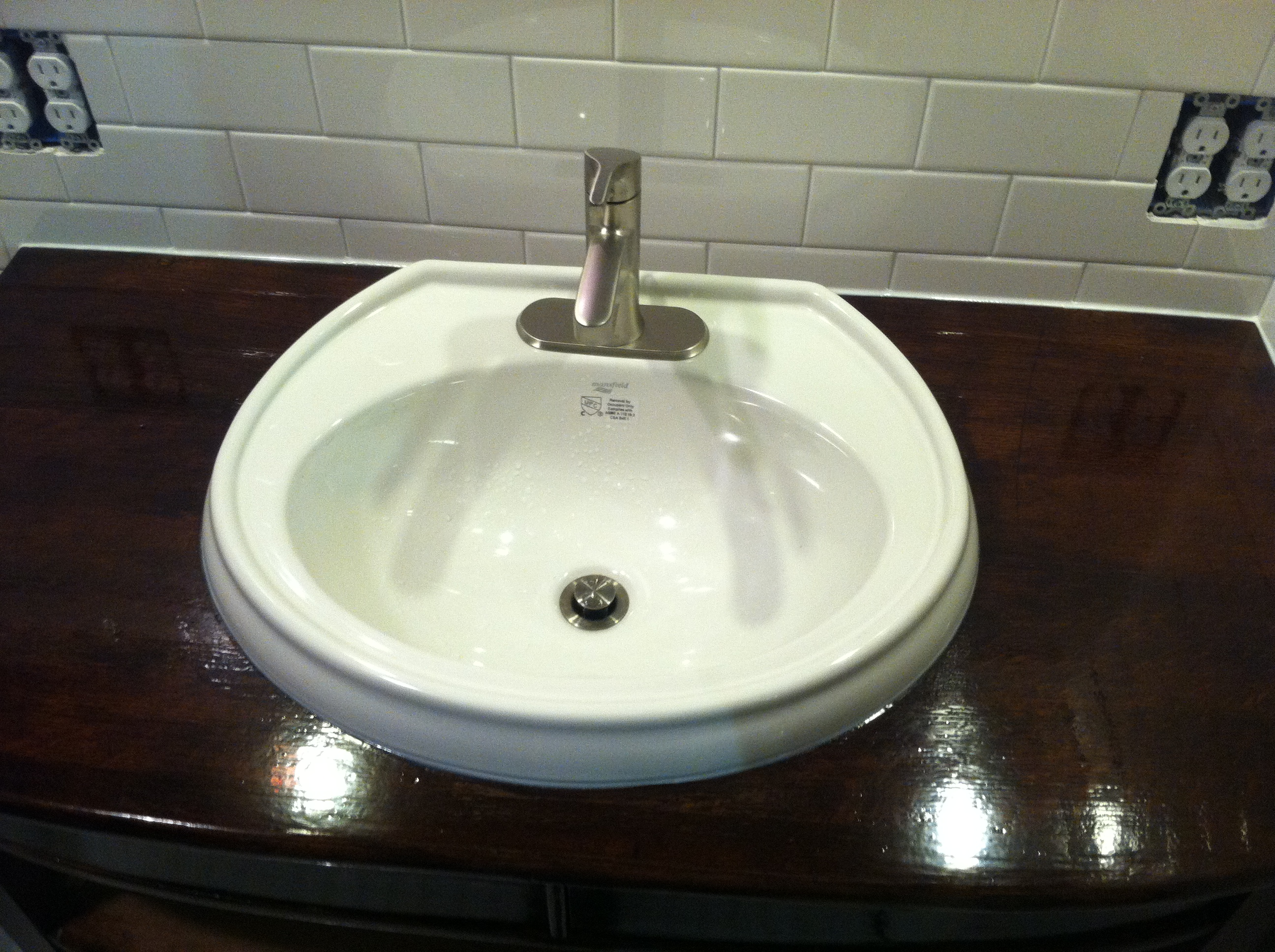 Sink Up And Adam Ries - Bathroom sink sealant